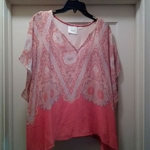 XS Anthropologie Maeve lined silk butterfly blouse